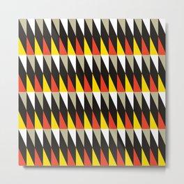Midcentury red, black, grey & yellow Metal Print