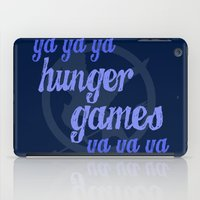 lorde iPad Cases featuring Ya Ya Ya Hunger Ya Ya Ya Games - Blue by Hrern1313