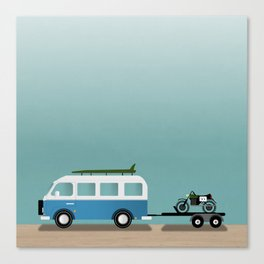 Surf Vans Canvas Print