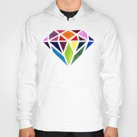 diamond Hoodies featuring Diamond by Bridget Davidson