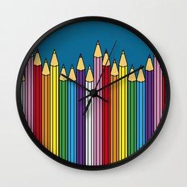 Pencils in line Wall Clock