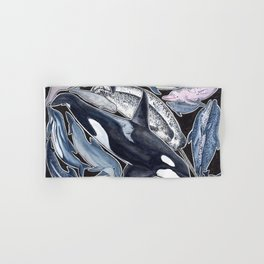 Dolphin, orca, beluga, narwhal & cie Hand & Bath Towel
