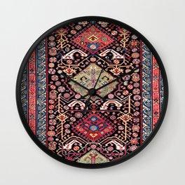 Zeikhur Sumakh  Antique East Caucasus Rug Wall Clock