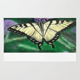 Yellow Tiger Swallowtail Butterfly Rug
