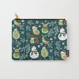Christmas Avocado Carry-All Pouch