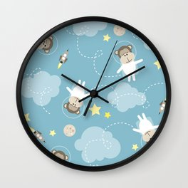Dreaming in space Wall Clock