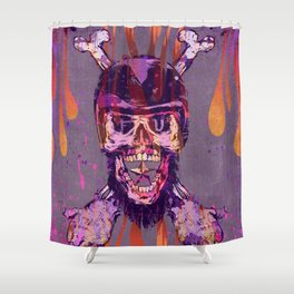 Moto Head Shower Curtain
