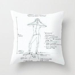 Pensive Drawing, Transitions through Triathlon Throw Pillow