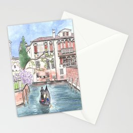 """""""Gondola in Venice"""" Watercolor and Ink Illustration Stationery Cards"""