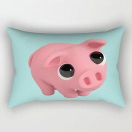 Rosa the Pig is shy Rectangular Pillow