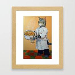 Purrameters of Pie Framed Art Print