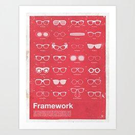 Framework Art Print