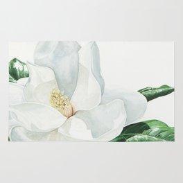 Watercolor Magnolia Blossom Rug