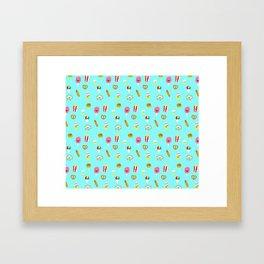 Carnies Pattern Framed Art Print