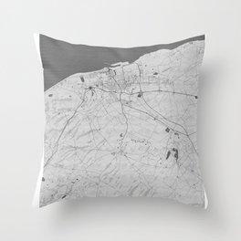 Calais Pencil City Map Throw Pillow
