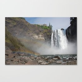 Double Rainbow At The Great Northern Canvas Print