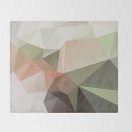 KASTANIE - low poly illustration pattern Throw Blanket