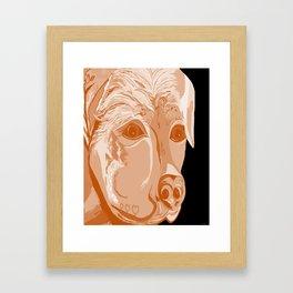 Rottweiler Sepia Tones Framed Art Print