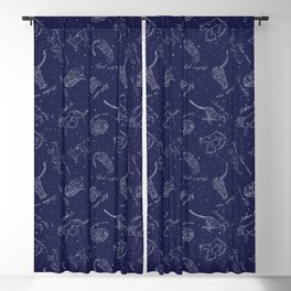 Big Cats Constellations Blackout Curtain