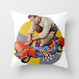 Mr Fixit | Collage Throw Pillow
