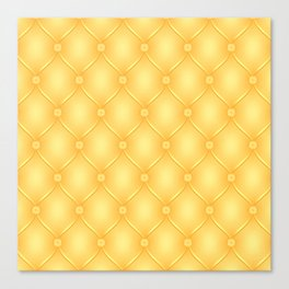 Yellow Upholstery Pattern Canvas Print