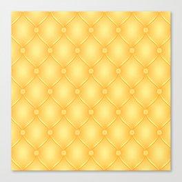 Yellow Upholstery Pattern Canvas Print