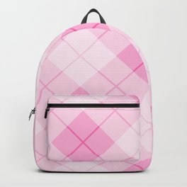 Pink Plaid Pattern Backpack