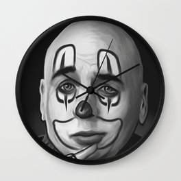 "Art Design ""Chicano clown"" Wall Clock"