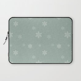 Snow Flakes pattern Green #homedecor #nurserydecor Laptop Sleeve