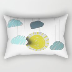 Sunny Day 3D Paper Craft Rectangular Pillow
