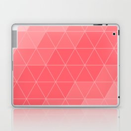 Coral Red Triangles Laptop & iPad Skin