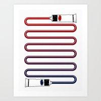 neutral milk hotel Art Prints featuring Neutral. by Matt Leyen