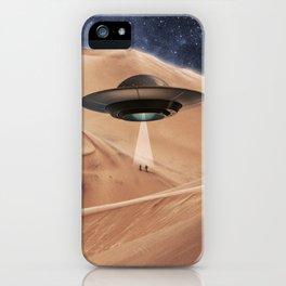 ALIEN DESERT ABDUCTION iPhone Case