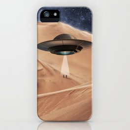 ALIEN DESERT ABDUCTION iPhone Case