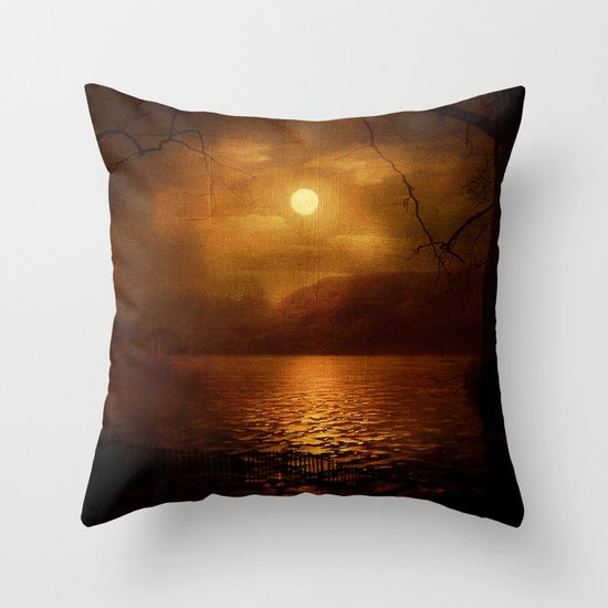 Serenity Painted Death Throw Pillow