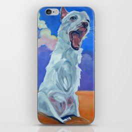 Special Needs Pippin Dog Portrait iPhone Skin
