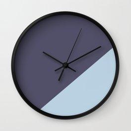 Purple Blue & Light Blue - oblique Wall Clock