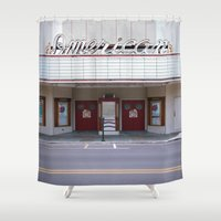 american Shower Curtains featuring American by Jon Cain