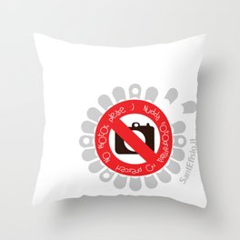 No Photos, please Throw Pillow