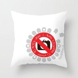No Photos, please Throw Pillow