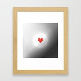 . SUN GRAY RED HEART Framed Art Print