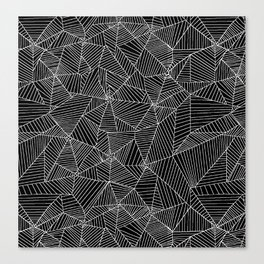 Spiderwebs - Webs in black and white Canvas Print