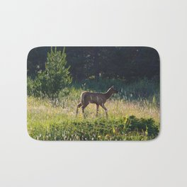 Elk calf in Jasper National Park Bath Mat