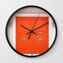 Palm Springs Orange Crush Door Wall Clock