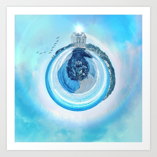 Rounded Planet Art Print