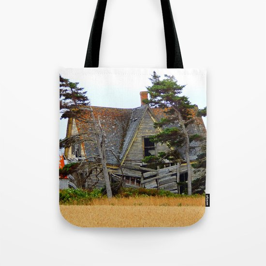 Abandoned Collapsing Homestead Tote Bag