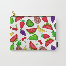 Tutti Fruity Hand Drawn Summer Mixed Fruit Carry-All Pouch