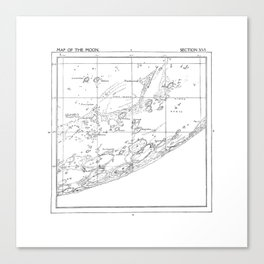 Map of the Moon (set 3/3) Canvas Print