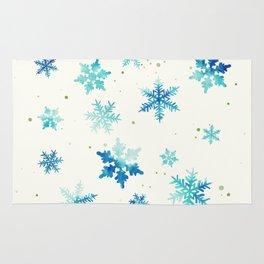 ICY BLUE SNOWFLAKE PATTERN Rug