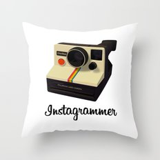 instagrammer Throw Pillow
